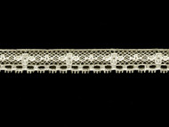"Off White Edge Lace Trim - Cotton/Poly - .875"" (WT0078E05)"
