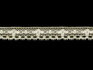 "Off White Edge Lace Trim - Cotton/Poly - .875"" (WT0078E05)"