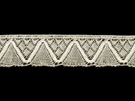 "Off White Edge Lace Trim - Cotton - 1.5"" (WT0112E06)"
