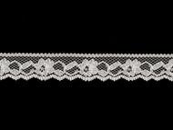 "White Edge Lace Trim - .75"" (WT0034E14)"
