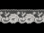 "White Edge Lace Trim w/ sheen - 2.5"" (WT0212E03)"