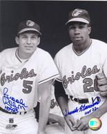 Brooks Robinson & Frank Robinson Auto 8x10 Photo AUPH8BROOKSFRANKB&W