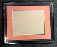 Double-Matted Black Wood 11x14 Frame