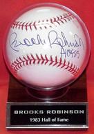 Brooks Robinson Autographed Baseball with HOF Inscription