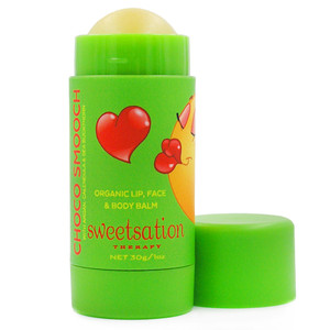 Choco Smooch Organic Baby Lip & Face Balm, with Argan, Calendula & Sea Buckthorn Jumbo, 1oz
