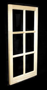 22 x 41-5/16 Natural Pine Barn Sash Window (BSW2241)