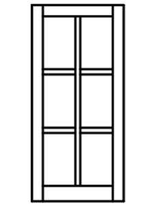 Custom Sized Barn Sash - White PVC or Natural Pine Wood - 2W X 3H Lite Pattern