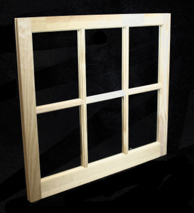 31-5/16 x 29 Natural Pine Barn Sash Window (BSW3129)