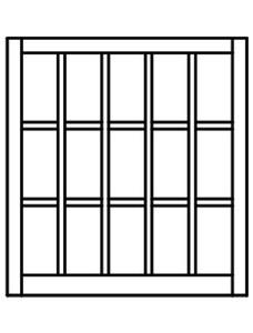 Custom Sized Barn Sash - White PVC or Natural Pine Wood - 5W X 3H Lite Pattern