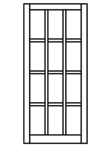 Custom Sized Barn Sash - White PVC or Natural Pine Wood - 3W X 4H Lite Pattern