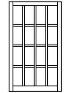 Custom Sized Barn Sash - White PVC or Natural Pine Wood - 4W X 4H Lite Pattern