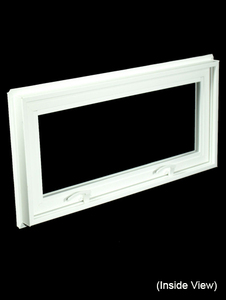 32 x 15-1/4 White PVC Hopper / Awning Window (NVC3216W)