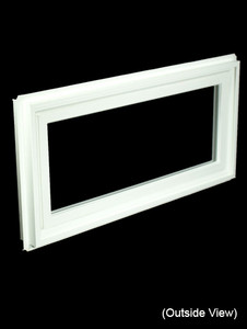 Custom Sized White PVC Hinged Window - High Performance or Clear Glass