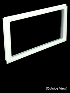 Custom Sized White PVC Direct Set Window - High Performance or Clear Glass