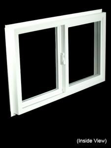 32 x 19-1/4 White PVC Gliding Windows (NVSS3220W)