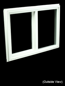 32 x 23-1/4 White PVC Gliding Windows (NVSS3224W)