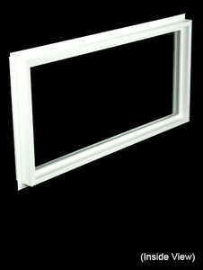 32 x 15-1/4 White Direct Set Windows (NVCF3216W)