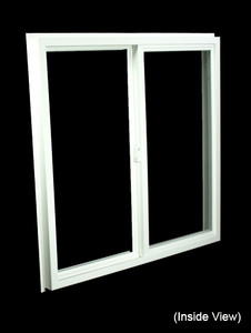 35-1/2 x 35-1/2 White PVC Insulated Gliding Window (NVSS3636W)