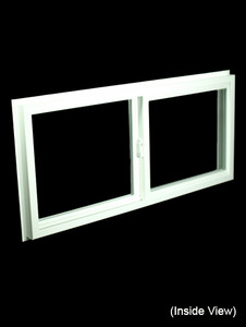 43 x 19-1/4 White PVC Insulated Gliding Window (NVSS4320W)