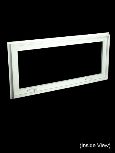 43 X 19 1 4 White Pvc Insulated Hopper Awning Windows