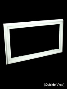 43 x 23-1/4 White PVC Insulated Hopper / Awning Windows (NVC4324W)