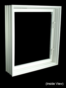 "31-7/8 x 39-7/8 Full 8"" Jamb PVC Egress Casement Windows (NVPC3240W7)"