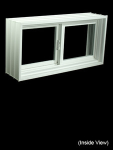 "31-7/8 x 15-7/8 Full 8"" Jamb PVC Gliding Windows (NVPP3216W7)"
