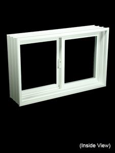 "31-7/8 x 19-7/8 Full 8"" Jamb PVC Gliding Windows (NVPP3220W7)"