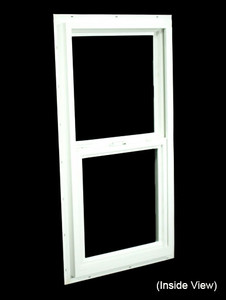 17-1/2 x 35-1/2 White PVC Utility Single Hung Windows (NVSH1836WD)