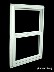 23-1/2 x 29-1/2 White PVC Utility Single Hung Windows (NVSH2430WD)