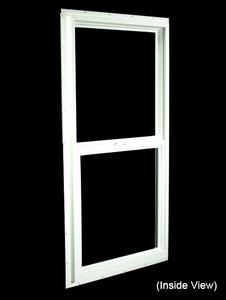 23-1/2 x 47-1/2 White PVC Utility Single Hung Windows (NVSH2448WD)