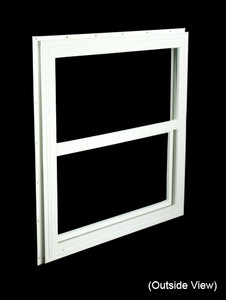 29-1/2 x 29-1/2 White PVC Utility Single Hung Windows (NVSH3030WD)