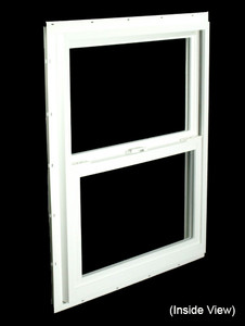 23-1/2 x 29-1/2 White PVC Insulated Single Hung Windows (NVSH2430WI)