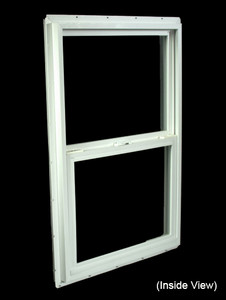 23-1/2 x 35-1/2 White PVC Insulated Single Hung Windows (NVSH2436WI)