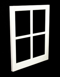 24 x 29 White PVC Barn Sash Window (BS2429W)