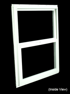 29-1/2 x 35-1/2 White PVC Insulated Single Hung Windows (NVSH3036WI)