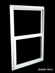 29-1/2 x 41-1/2 White PVC Insulated Single Hung Windows (NVSH3042WI)