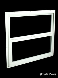 35-1/2 x 29-1/2 White PVC Insulated Single Hung Windows (NVSH3630WI)