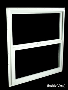 35-1/2 x 35-1/2 White PVC Insulated Single Hung Windows (NVSH3636WI)