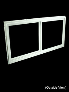47-1/2 x 23-1/2 White PVC DSB Gliding Windows (NVU4824WD)