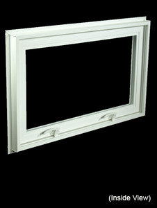 32 x 19-1/4 White PVC Hopper / Awning Window (NVC3220W)