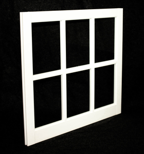 31-5/16 x 29 White PVC Barn Sash Window (BS3129W)