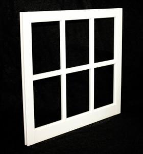 31-5/16 x 29 White PVC Barn Sash Window (BS3129W)