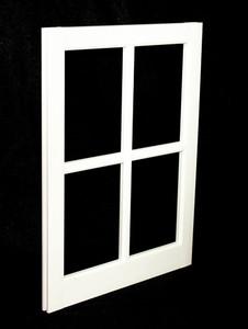 Custom Sized White PVC Barn Sash