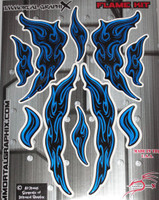 Flame Gel Kit Blue Metallic
