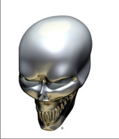 Chrome Skull Angle 1