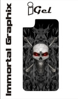 Igel Black Fire Skull Red