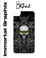 Igel Black Fire Skull Green