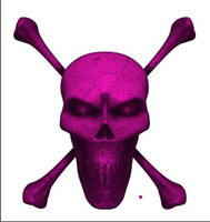 Digital Skull and Crossbones Full Dark Pink