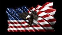 American Flag Flying Eagle